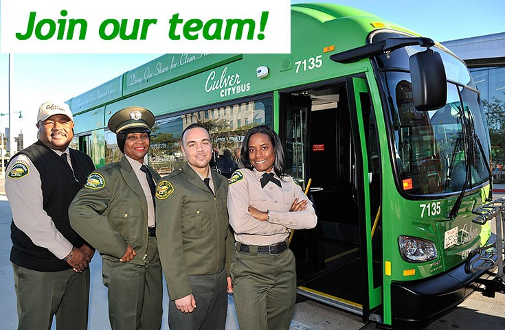 Join our team of Culver City Bus drivers.