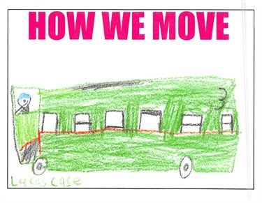 Student artwork on How We Move